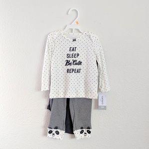 NWT Carter's 3 Piece Neutral Pajama Set - 12 mos